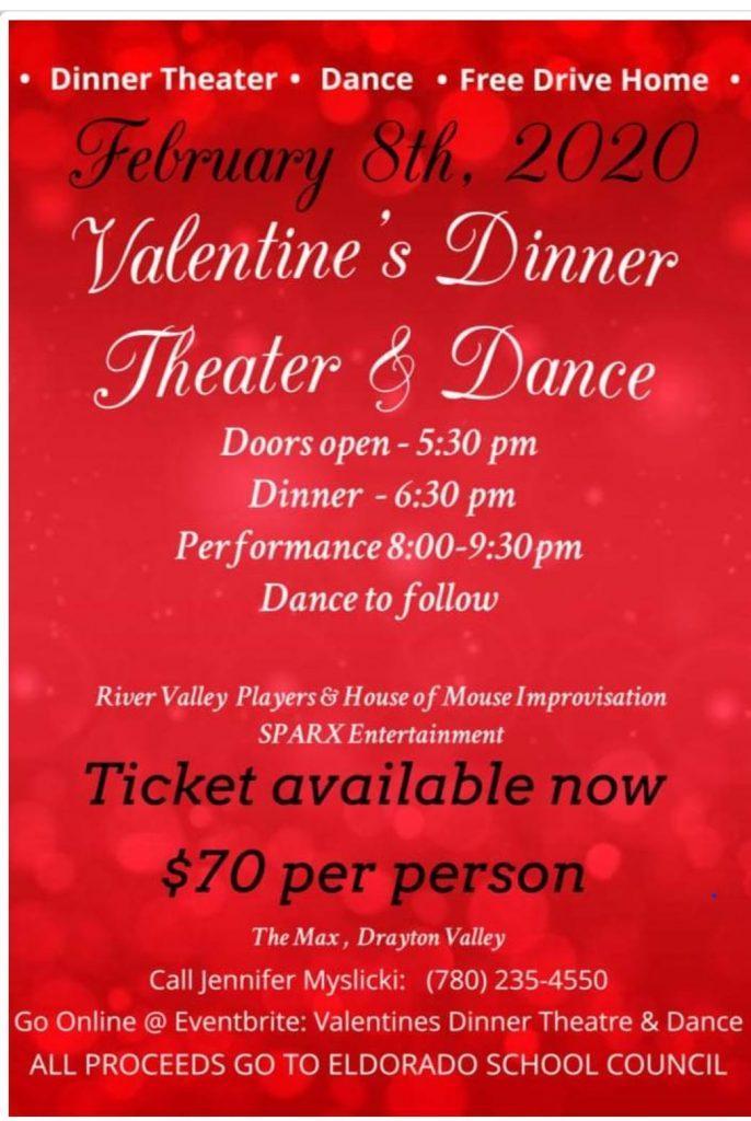 "Valentine""s Dinner Theatre and Dance"