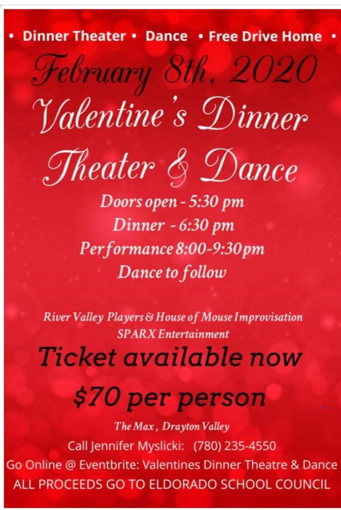 "Valentine""s Dinner Theatre and Dance"